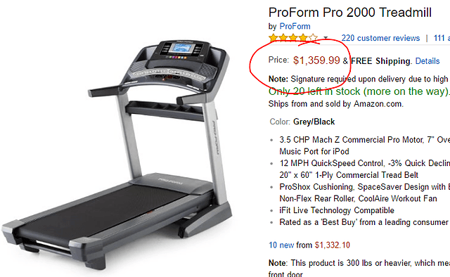 proform pro 2000 best price amazon
