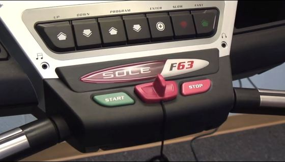 sole f63 treadmill console picture 1