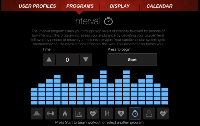 sole fitness app interval