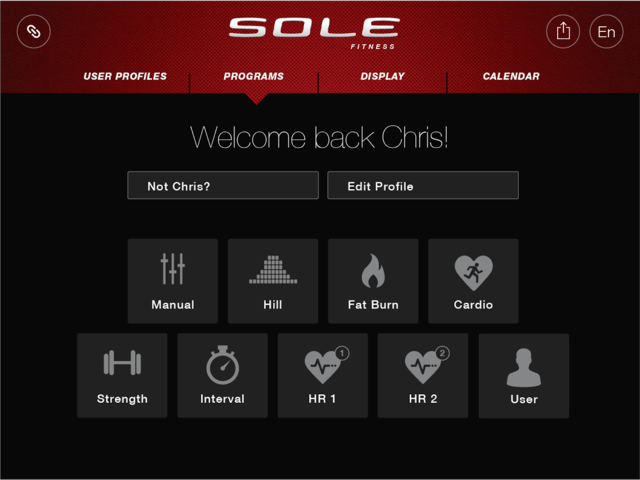 sole fitness app programs