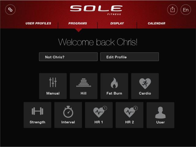 sole fitness app programs