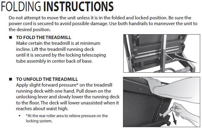 treadmill folding instructions